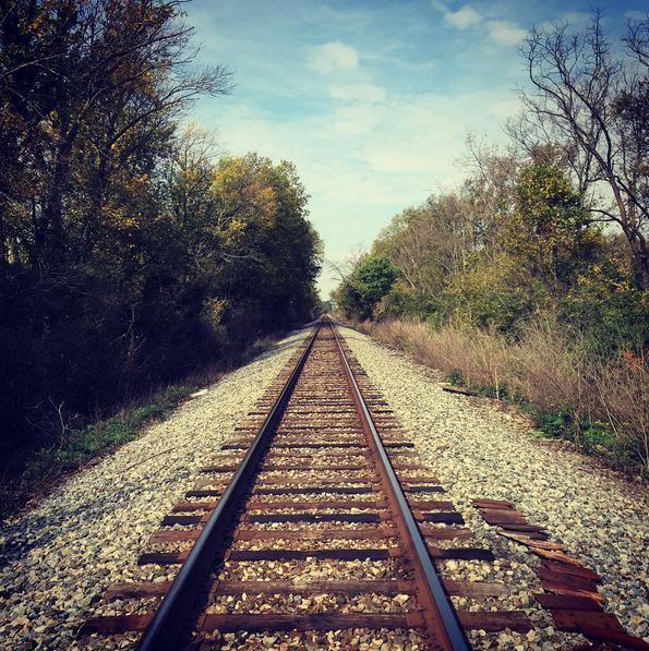 Railroad Tracks in West Chester, Ohio