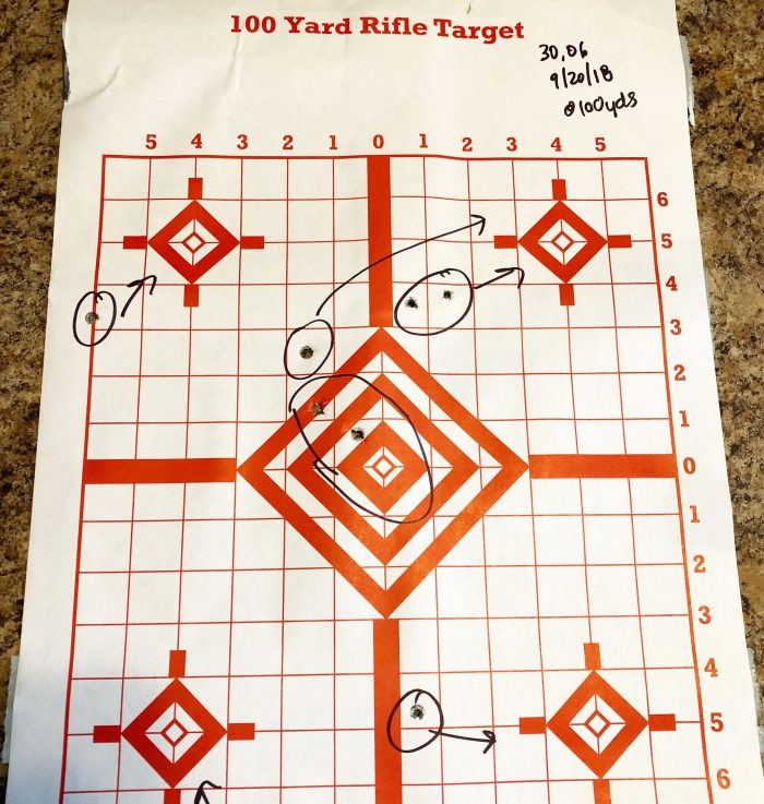 target practice with Savage 30.06