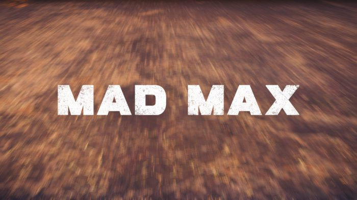 Mad Max Title Screen