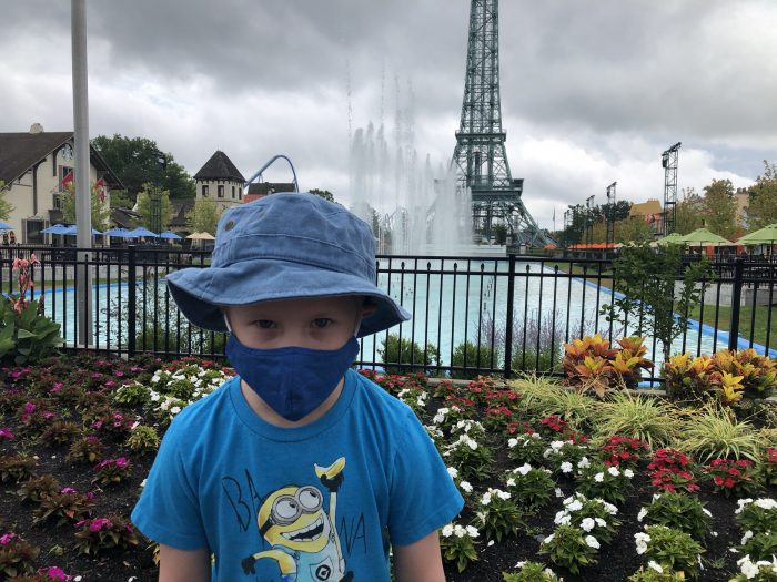 Wearing Masks at Kings Island